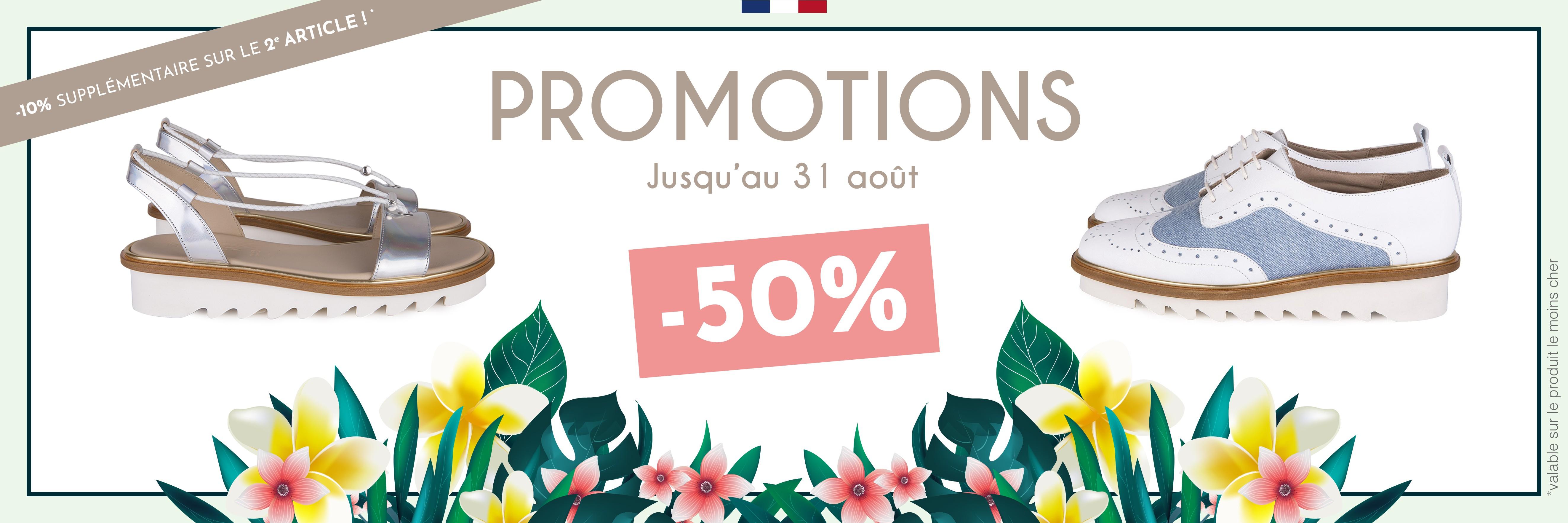 Promotions -50% jusqu'au
