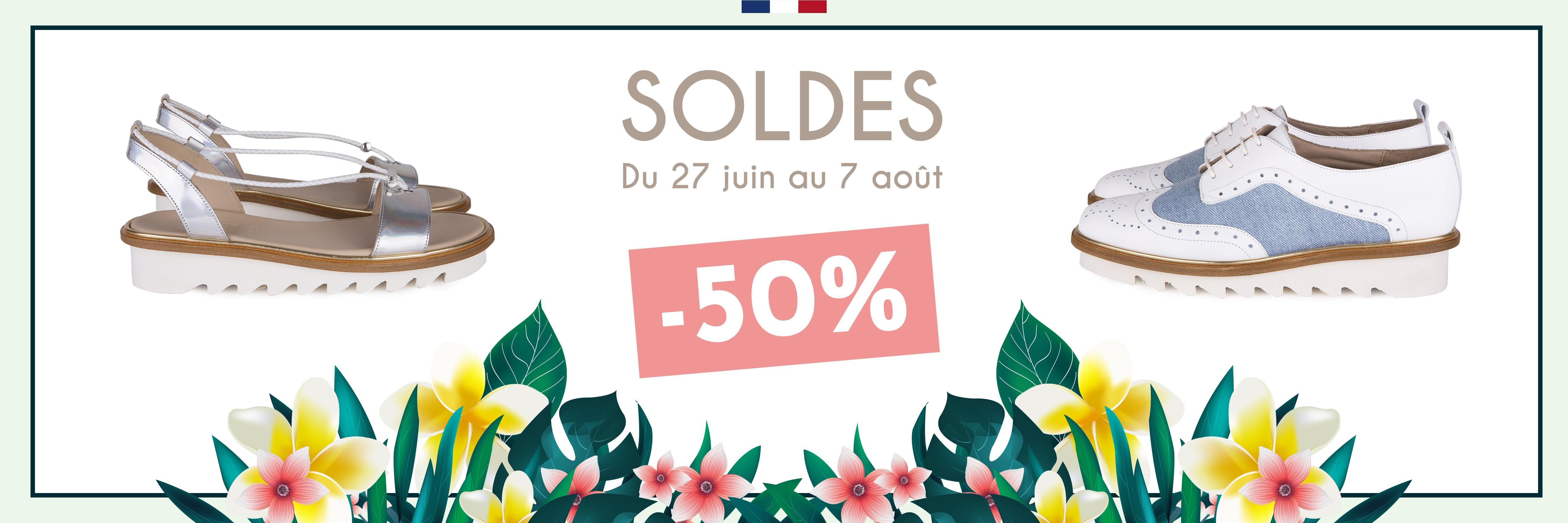 Soldes -50% du 27 juin au 7 août