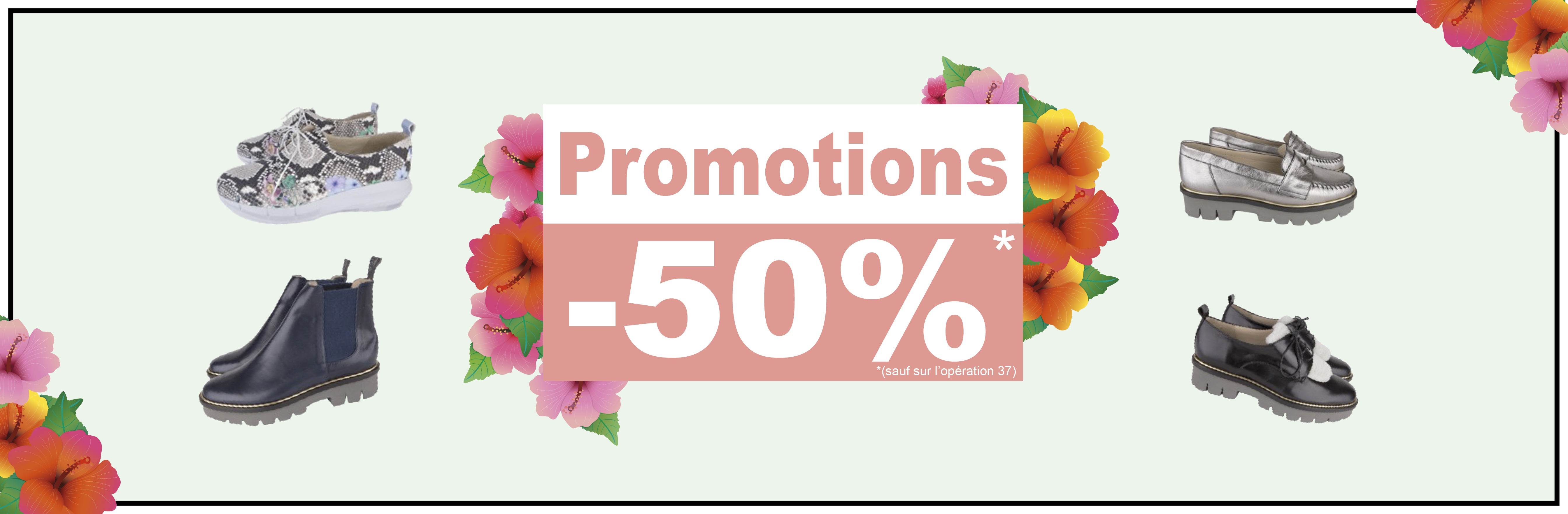 Promotions 50 %